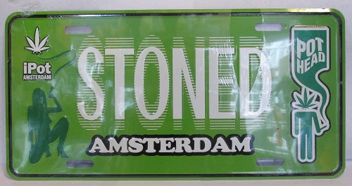 Plate groen stoned