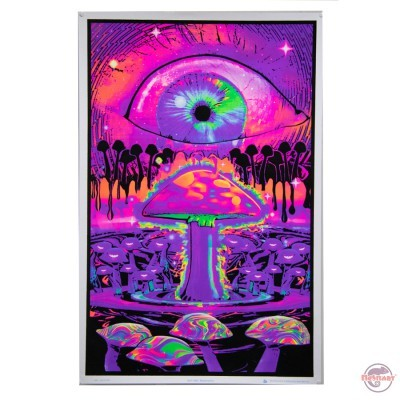 Black light poster Mushroom